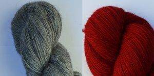 Kofta i rätstickad Tweed